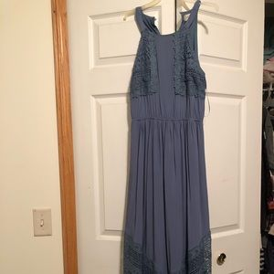 Long blue worn once dress from Alter'd state